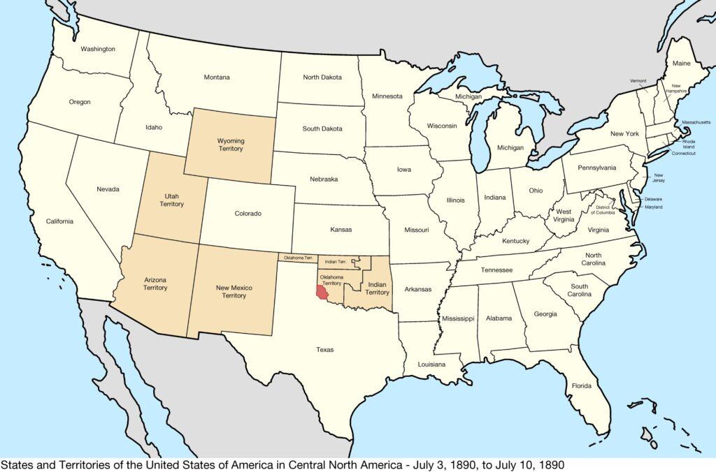 States map 1890